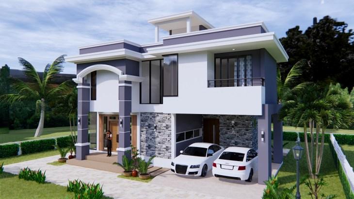 House Design 11x8 Meter 36x26 Feet 3 Beds 1