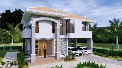 House Plans 11x8 Meter 36x26 Feet 3 Beds 1