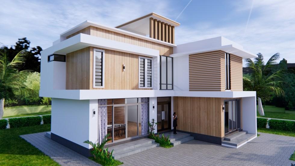 House Plans 12.4x11 Meter 41x35 Feet 4 Beds 2