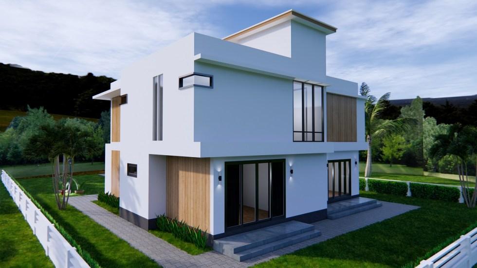House Plans 12.4x11 Meter 41x35 Feet 4 Beds 5