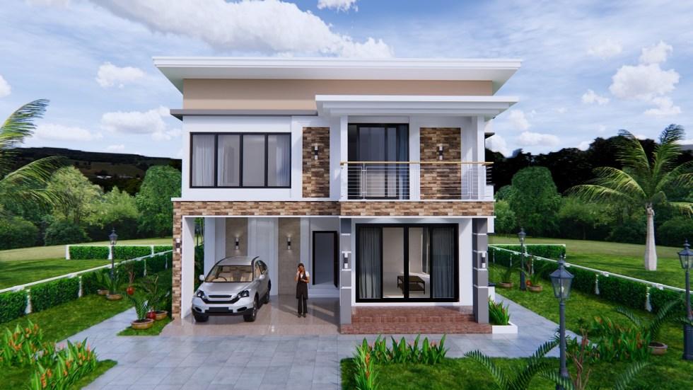 House Plans 9x11 Meter 30x36 Feet 4 Beds 2