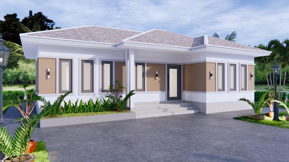 Modern Farmhouse Designs 12x8 Meters 40x26 Feet 3 Beds 1