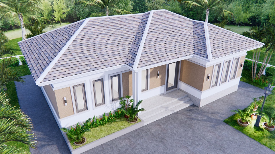 Modern Farmhouse Designs 12x8 Meters 40x26 Feet 3 Beds 4