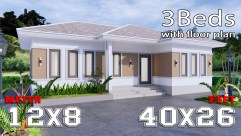 Modern Farmhouse Designs 12x8 Meters 40x26 Feet 3 Beds