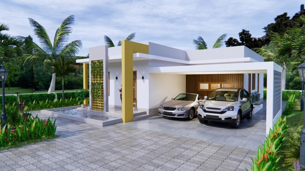 New House Design 12x14 Meter 40x46 Feet 2 Beds 5