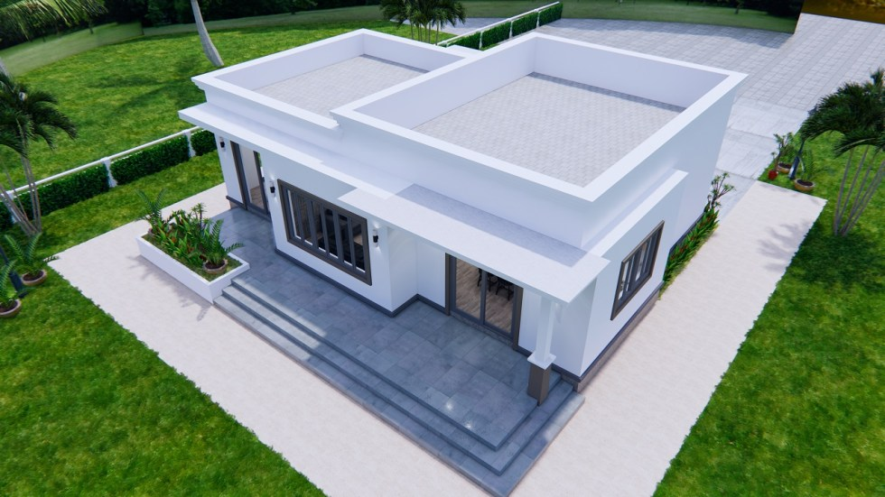 Online House Design 12x9 Meter 40x30 Feet 2 Beds 8