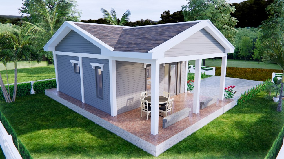 Small Cottage Designs 9x6 Meter 30x20 Feet 2 Beds 6
