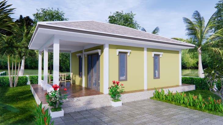 Small Farmhouse Plans 9x6 Meter 30x20 Feet 2 Beds 1