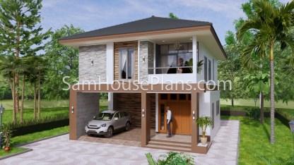 27x40 Feet House Plans 8x10 Meters 4 Bedrooms 5