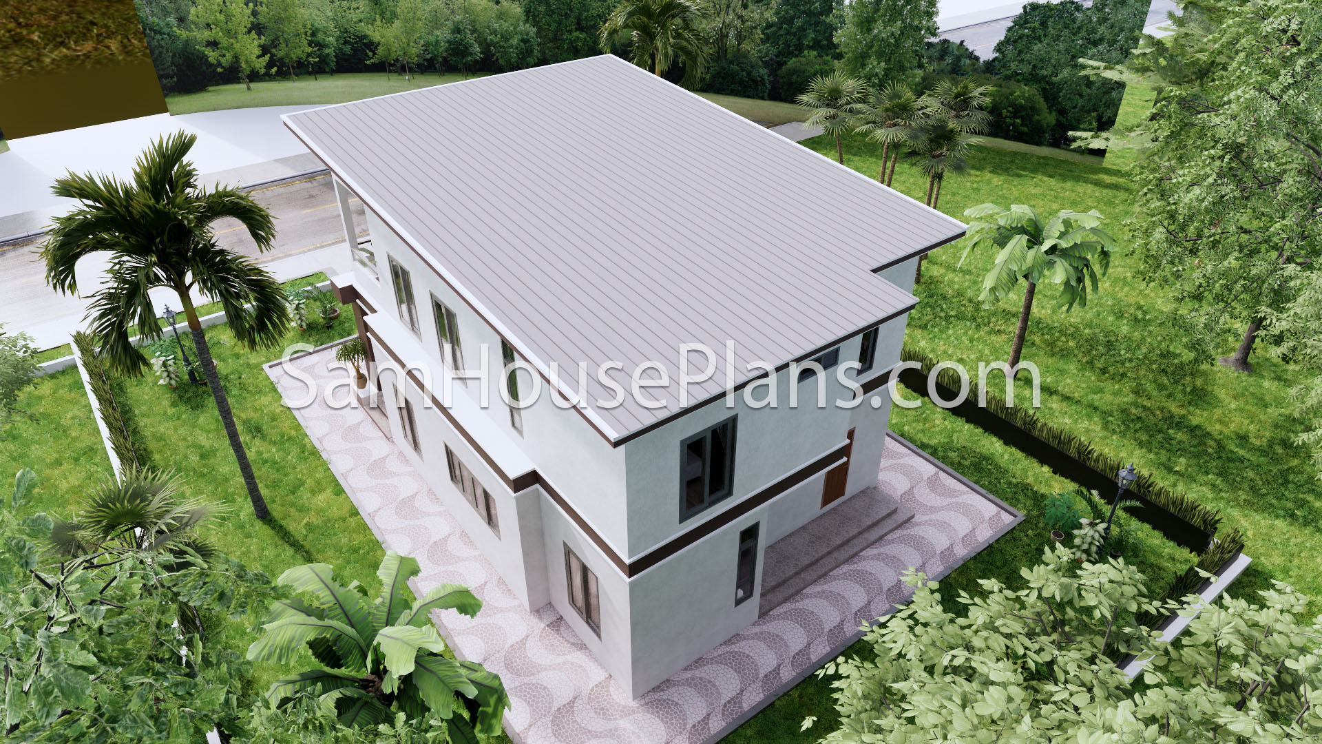 27x40 House Plans 8x10 Meters 4 Bedrooms 6