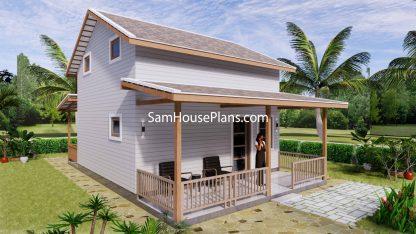 Simple House Design Plans 6x6 Meter 20x20 Feet 3d 3