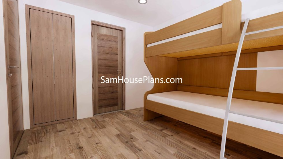 Simple House Design Plans 6x6 Meter 20x20 Feet 3d Kid room 1
