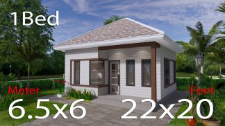 22x20 Feet Small Home Design 6.5x6 Meter Hip Roof