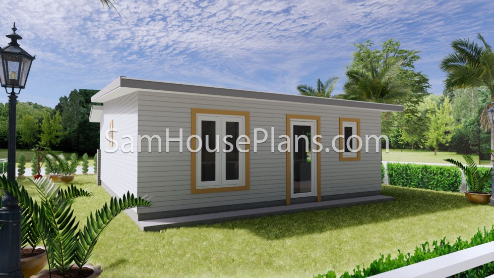Small House Floor Plans 7x8 Meter 24x26 Feet 2 Bedrooms Full Plans 6