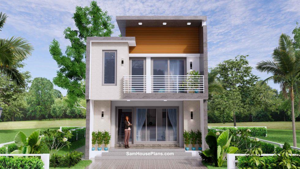 20x30 Small House Plan 6x8.5m PDF Full Plans Exterior 3