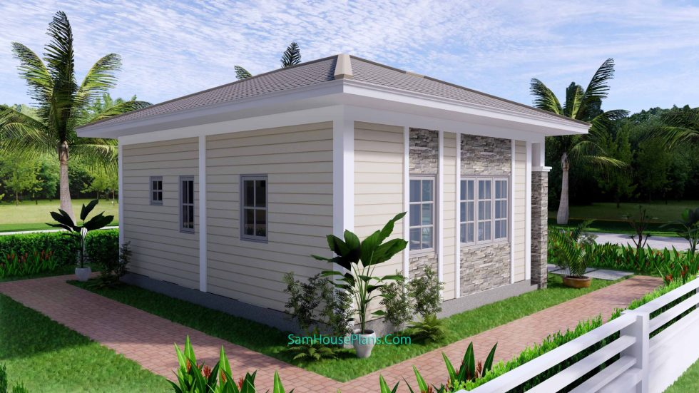 23x19 Small House Design 7x6 M PDF Full Plans 5