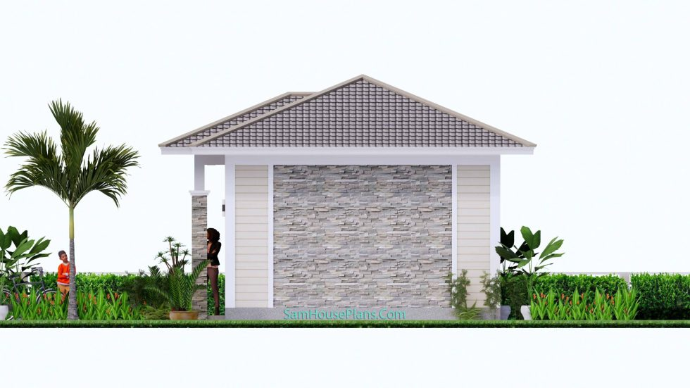 23x19 Small House Design 7x6 M PDF Full Plans Roof Right