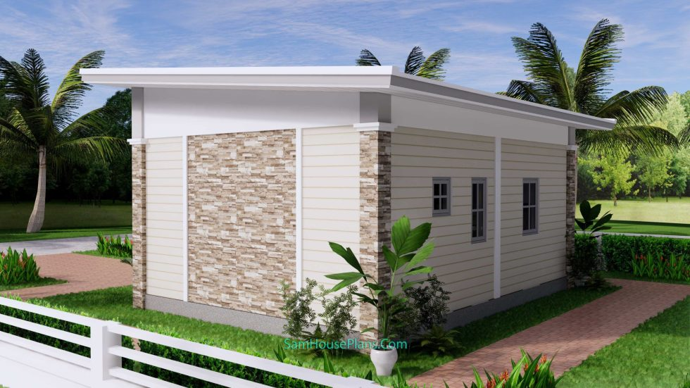 23x19 Small House Plan 7x6m PDF Full Plans Shed Roof 7
