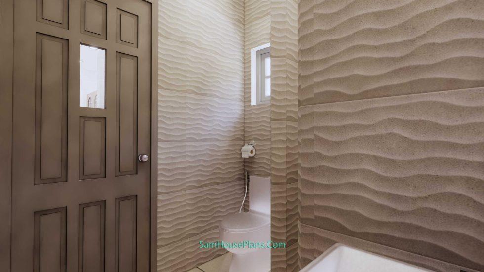 23x19 Small House Plan 7x6m PDF Full Plans Shed Roof Bathroom