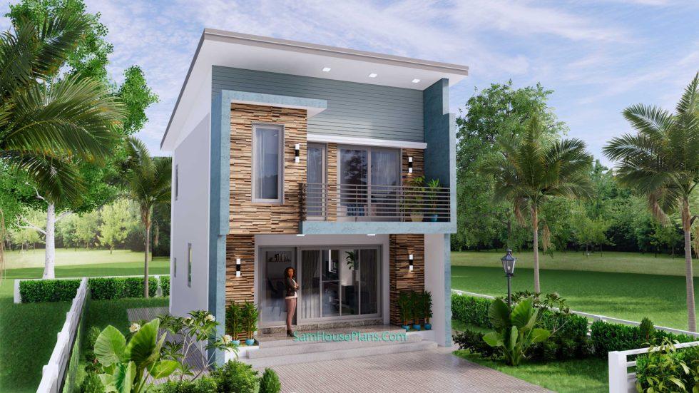20x28 House Design Plan 6x8.5m PDF Full Plans 6