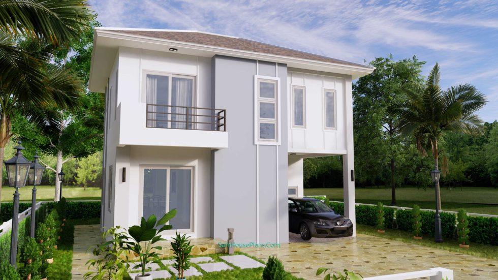 House Plans Design 8.5X6.5 M 3 Bedrooms PDF Full Plans 3