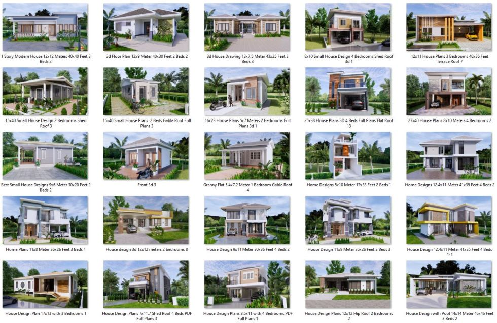 74 House Design Plans Available For Sell