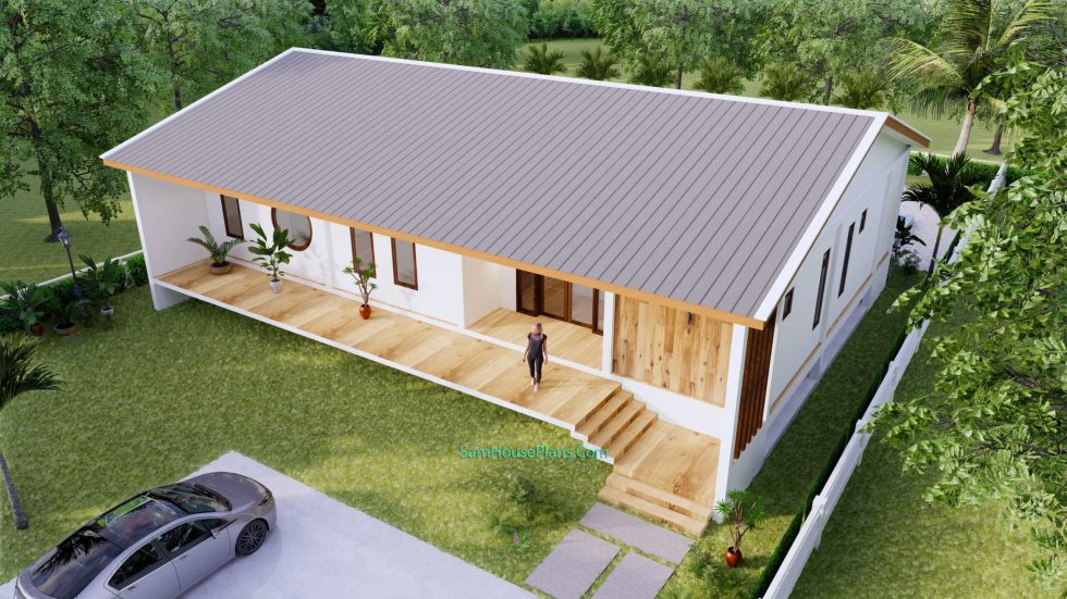 House plan 17x13 with 3 Bedrooms 7
