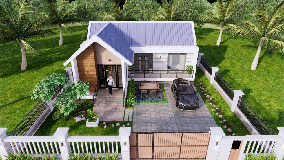 Modern House Design Plan 11x9 meter 3 Bedrooms 15