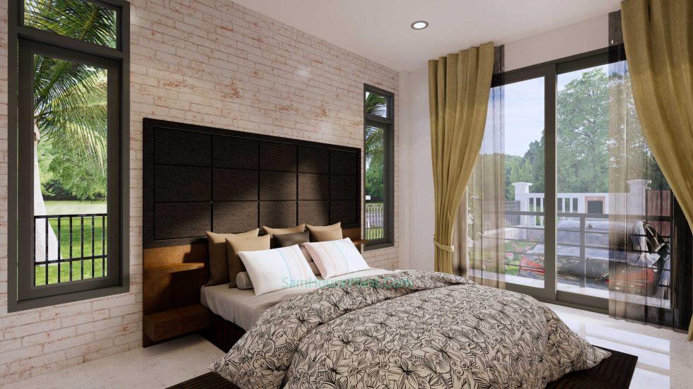 Modern House Design Plan 11x9 meter 3 Bedrooms Master Bedroom 2