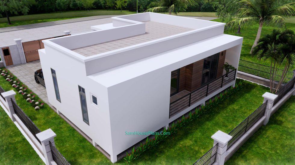 Modern House Plans 11x10.5 Flat Roof 10