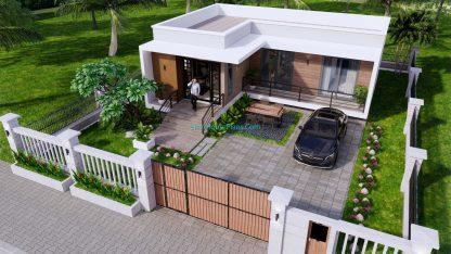Modern House Plans 11x10.5 Flat Roof 11