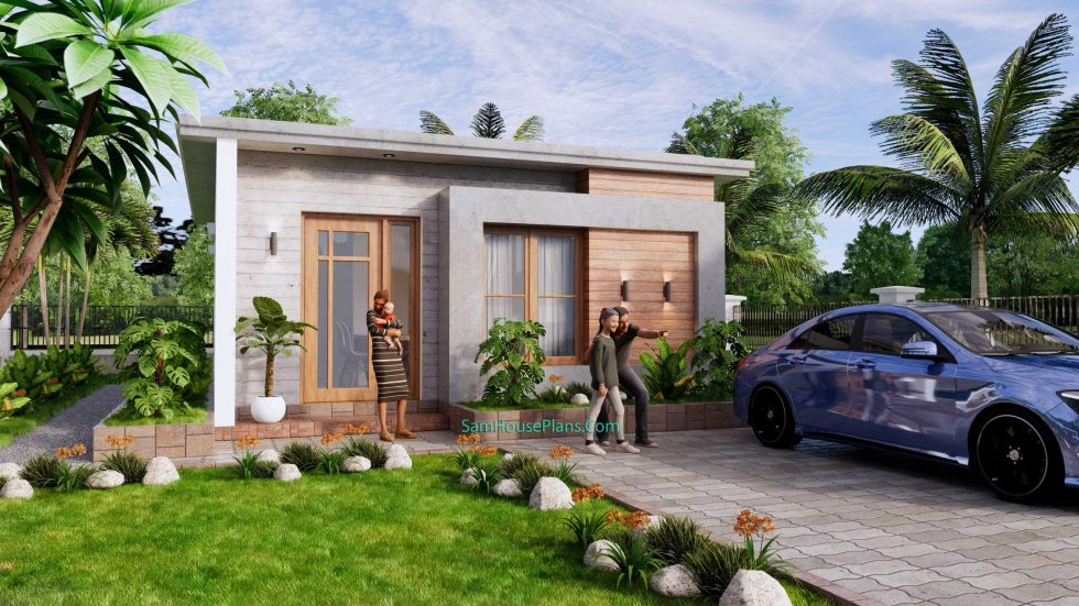Small House Design 6x8 with 2 Beds 48 sqm 3d 1