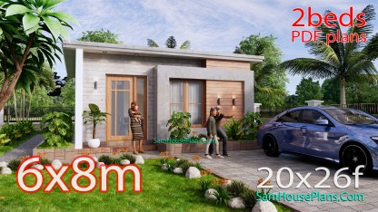 Small House Design 6x8m Simple House Plan with 48 sqm