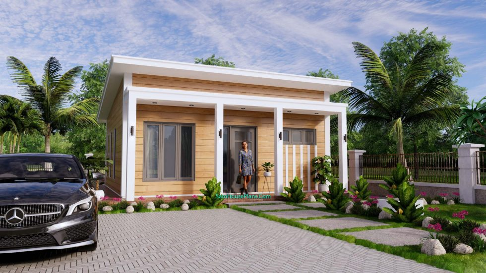7x8M Small House Design One Bedroom Free Plans Free Plans 3d 1