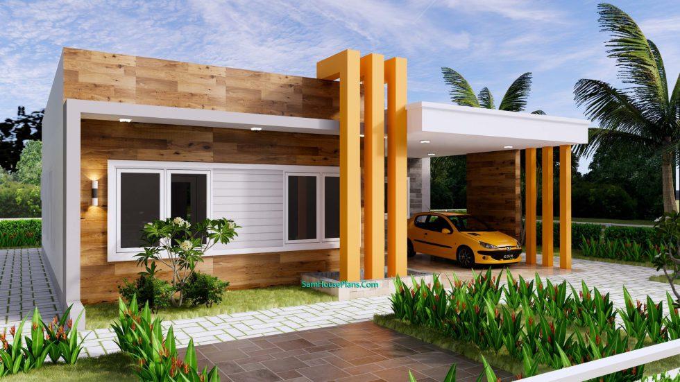 House Plans Design 12x11 M 3 Beds 40x36 Feet Terrace Roof 3d 2