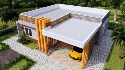 House Plans Design 12x11 M 3 Beds 40x36 Feet Terrace Roof 3d 5