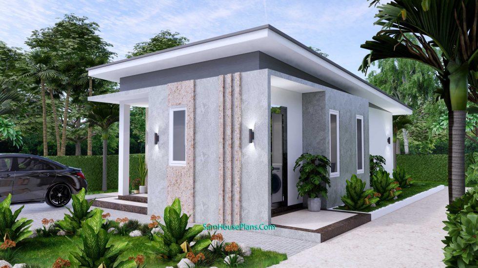 Small House Plan 4.5x9 Meter One Bedroom PDF Plan 3