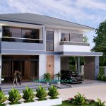 Small House Design 11.8x7.5 meters with 3 Beds Full PDF Plan 2