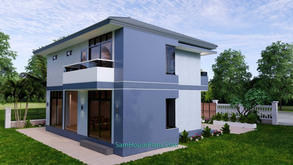 Small House Design 11.8x7.5 meters with 3 Beds Full PDF Plan 6