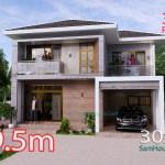 Small House Design 9x9.5 Meter 3 Bedrooms Full PDF Plan