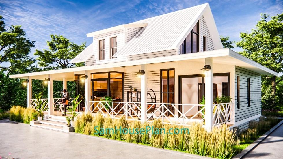 House Design Plan 14x9 Meter 46x30 Feet 3 Bedrooms Full PDF Plan 3d 3