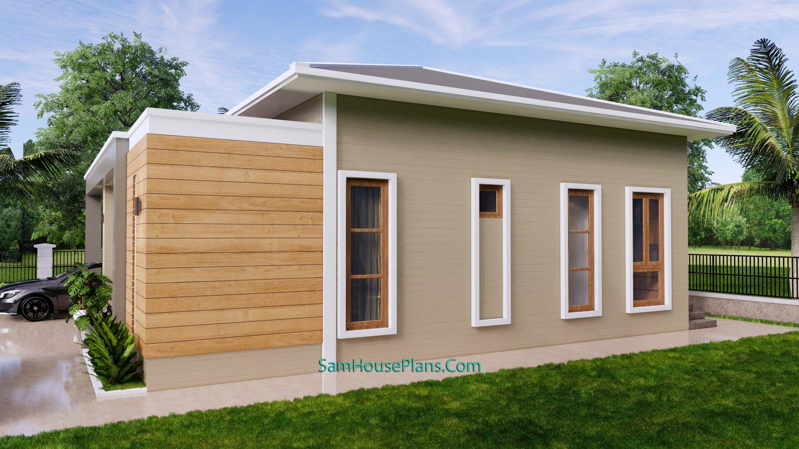 Modern House Plan 11x11 Meter 36x36 Feet 3 Beds PDF Plan 3d 4