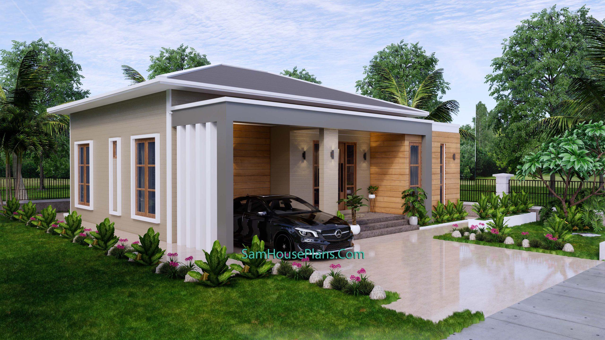 Modern House Plan 11x11 Meter 36x36 Feet 3 Beds PDF Plan 3d 7