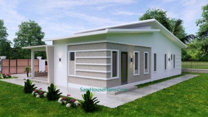 Modern House Plan 15x9 M 49x30 Feet 3 Beds PDF Plan 3d 8