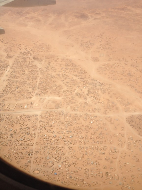 View of Tindouf from the airplane.