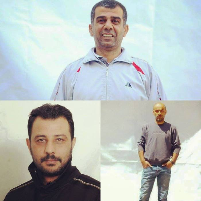 Nidal Abu Aker (top), Ghassan Zawahreh (right), Shadi Ma'ali (left)