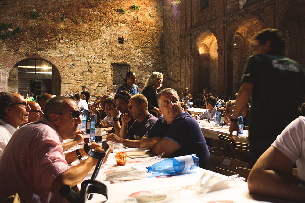 SamiM Adventures study abroad in Siena, Italy Contrade Dinner Oca