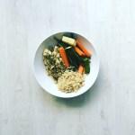Seasoned Chicken Breast with Quinoa and Veggies