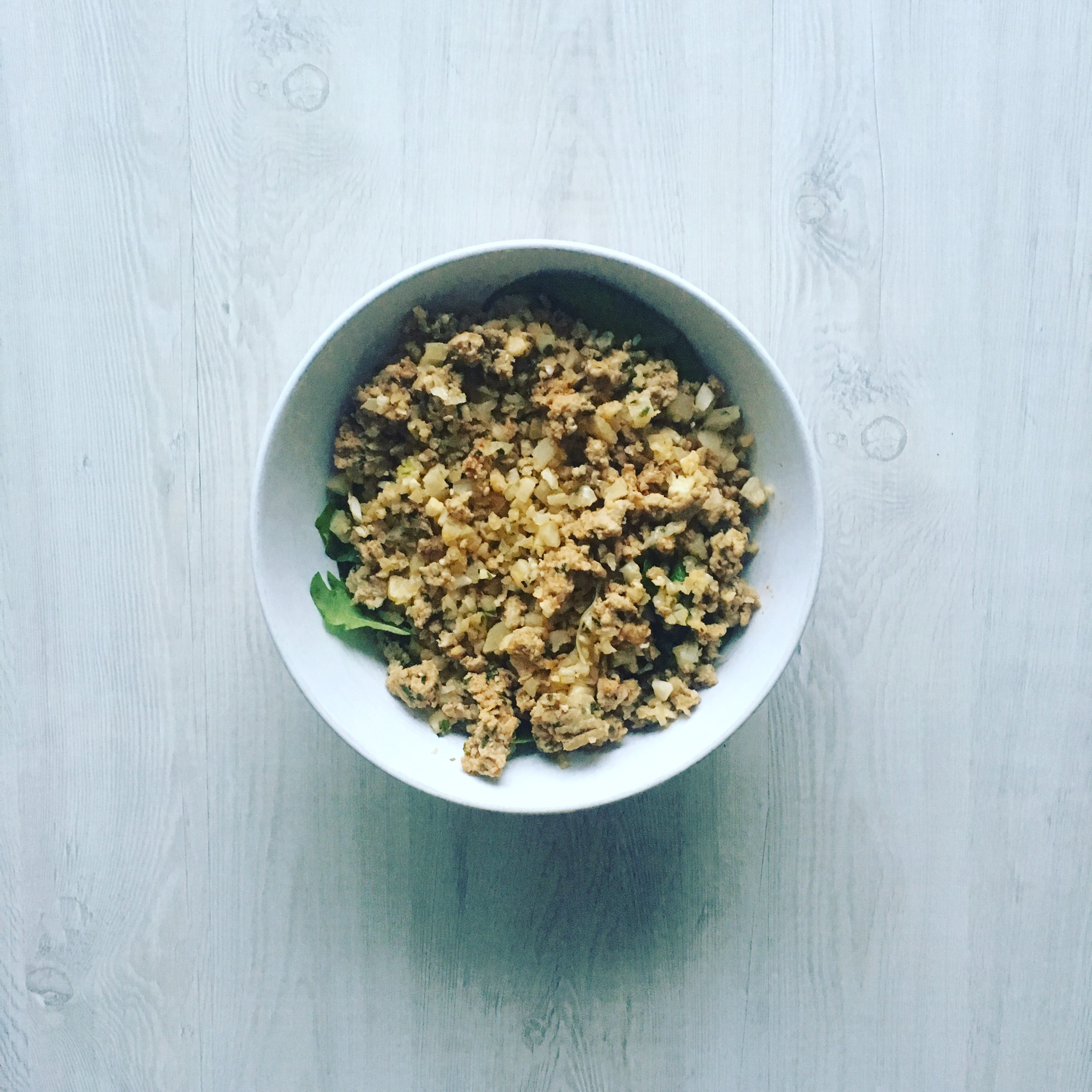 Cauliflower Rice Ground Meat