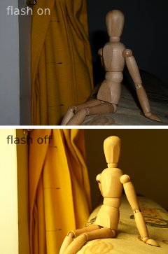 Flash on vs off in photographs